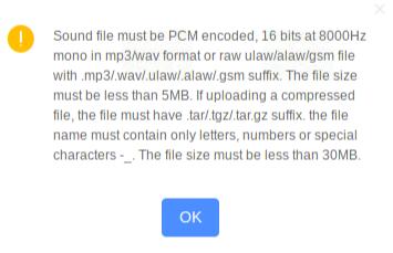 UCM 6104 MOH Warning